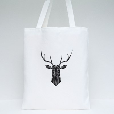 Vector Hipster Abstract Geometric Background With Deer Tote Bags