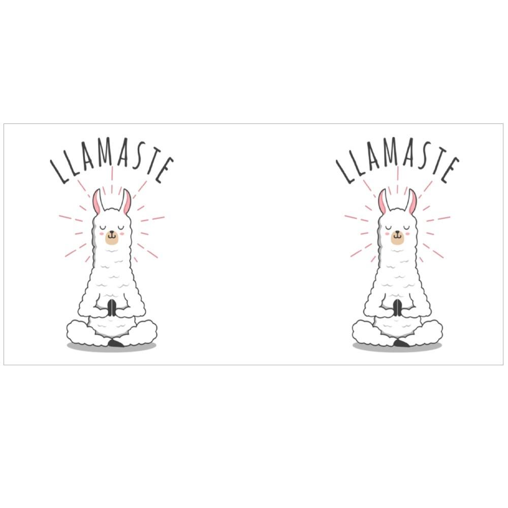 Cute Kawaii Llama Yoga Pose Illustration Colour Mugs