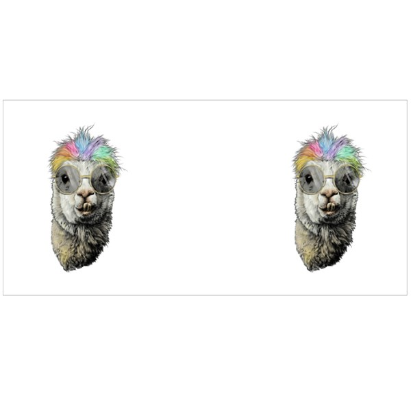 Llama or Alpaca Head Funny With Protruding Teeth Fashionable Colour Mugs