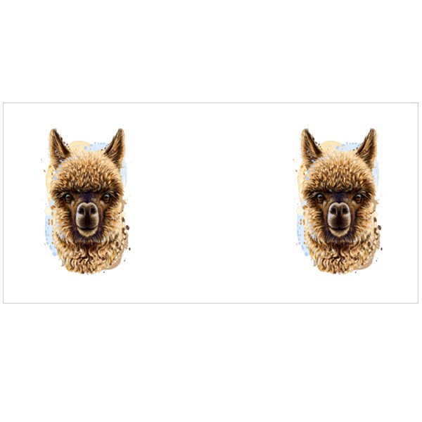 Llama Portrait Realistic Portrait Colour Mugs