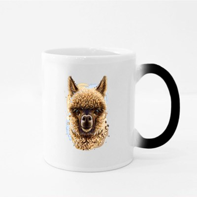Llama Portrait Realistic Portrait Magic Mugs