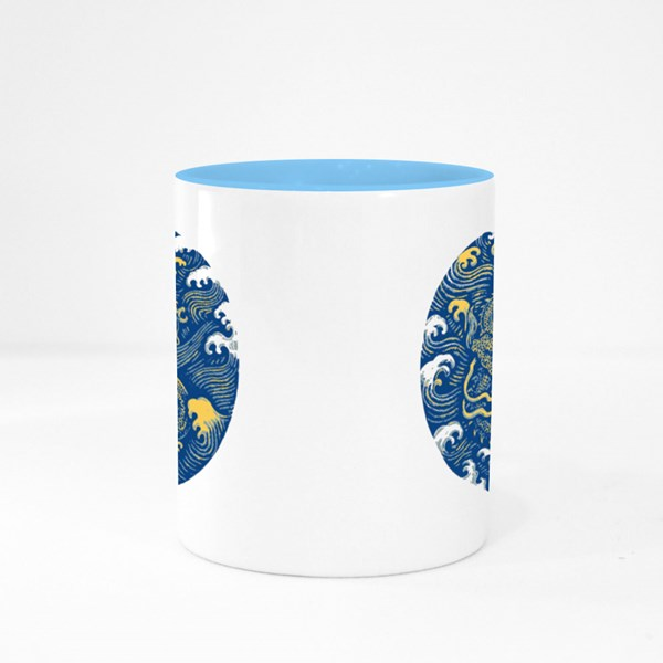 Ancient Chinese Dragon Pattern Colour Mugs