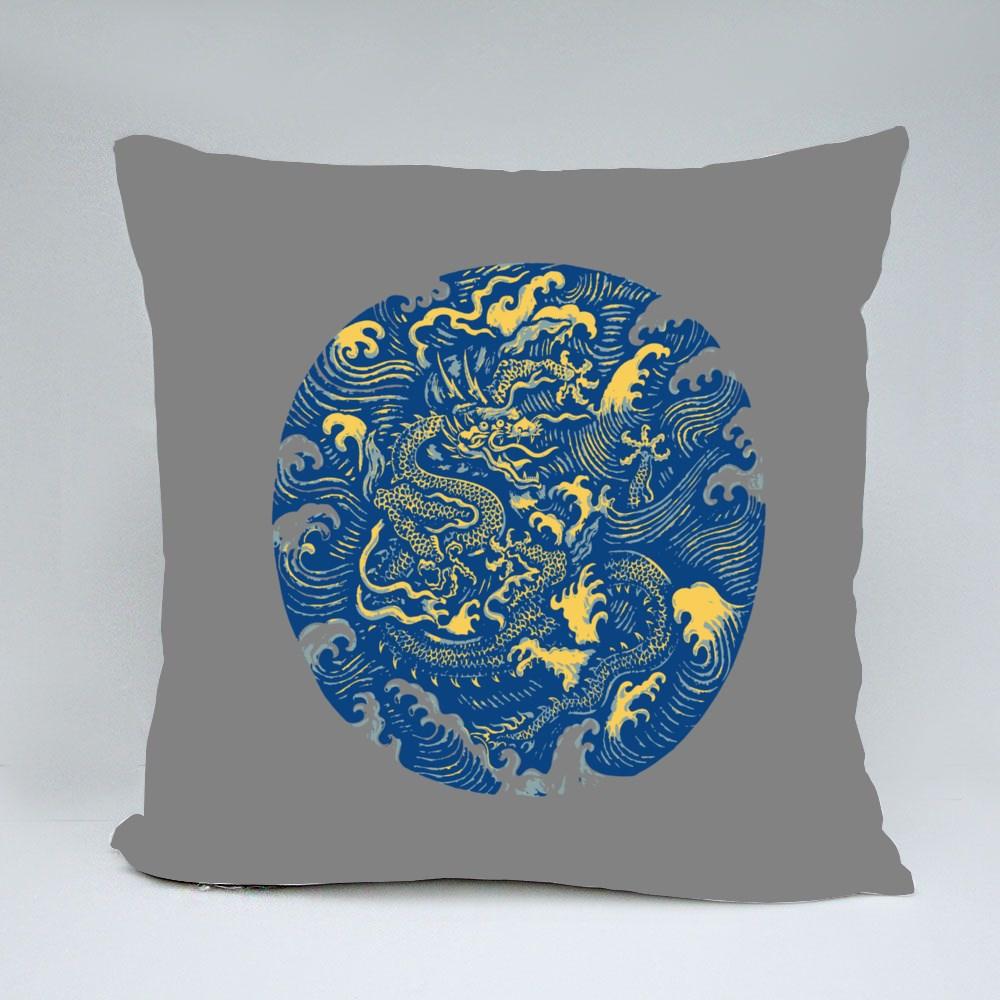 Ancient Chinese Dragon Pattern Bantal