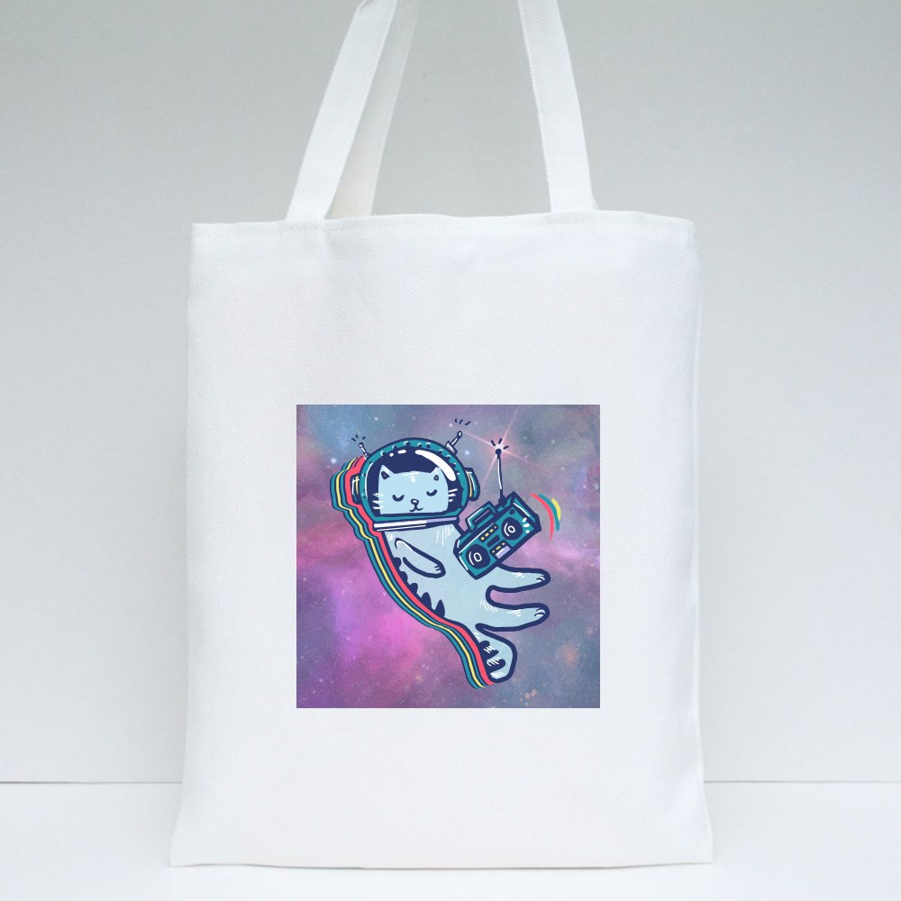 Astronaut Cat in Space Tote Bags