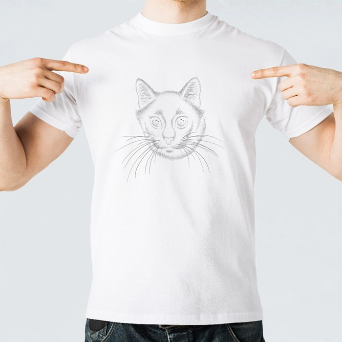 Cute Print Style Cat Background T-Shirts