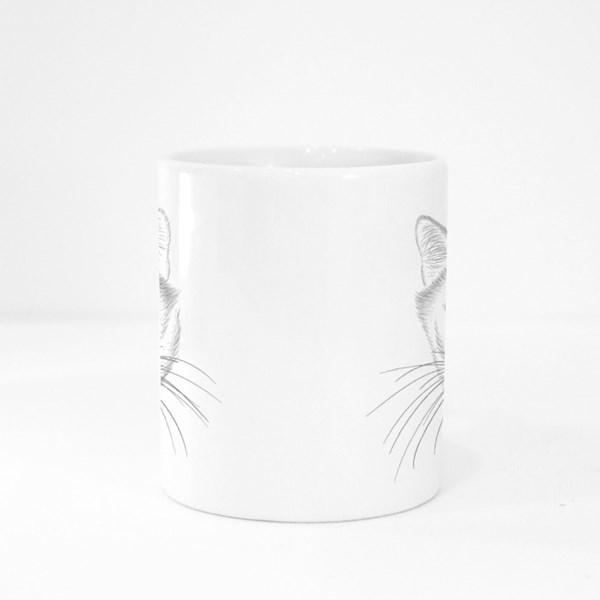 Cute Print Style Cat Background Colour Mugs