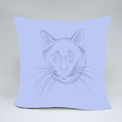 Cute Print Style Cat Background Throw Pillows