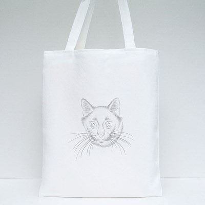 Cute Print Style Cat Background Tote Bags
