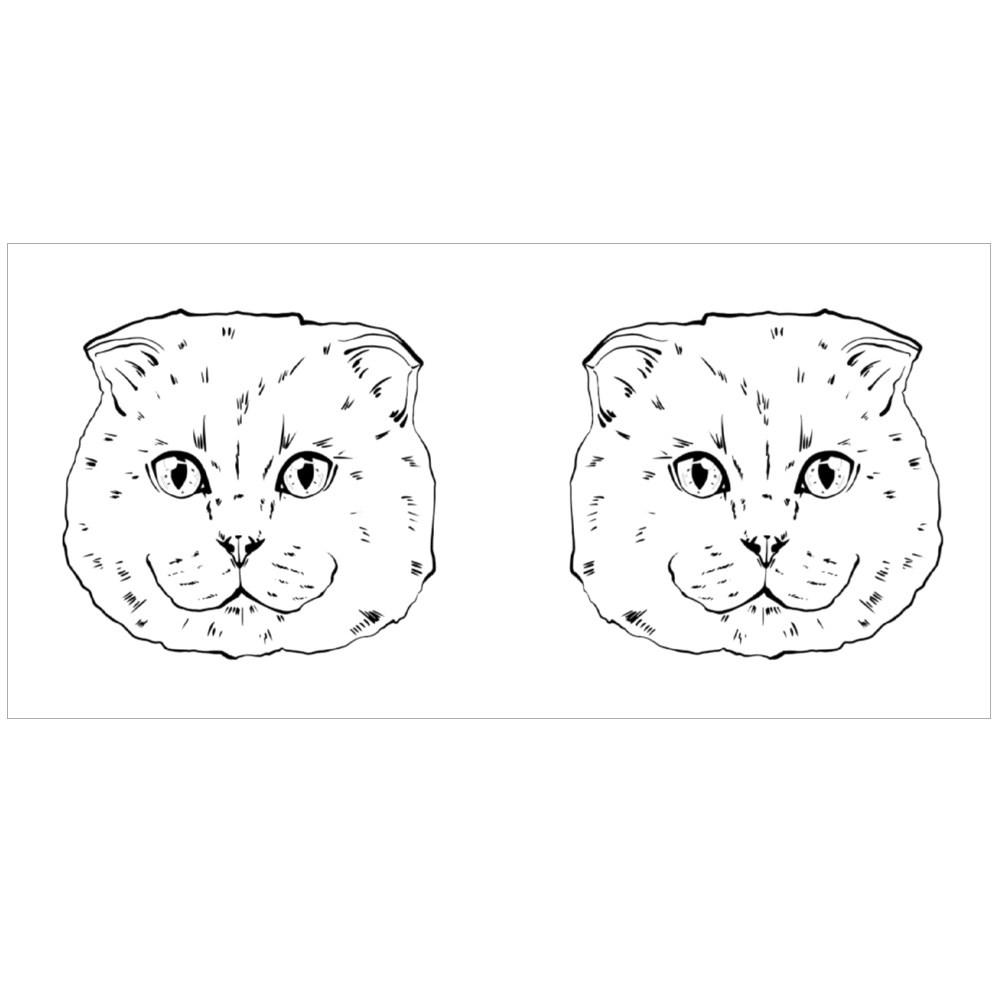 Black and White Muzzle of a British Cat Colour Mugs