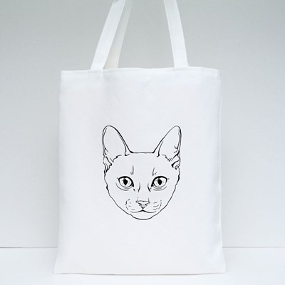 Black and White Muzzle of a Siamese Cat Tote Bags