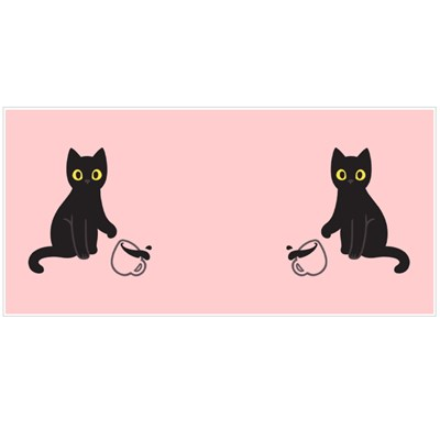 Cute Black Kitten Throwing Coffee Cup Off Table Magic Mugs