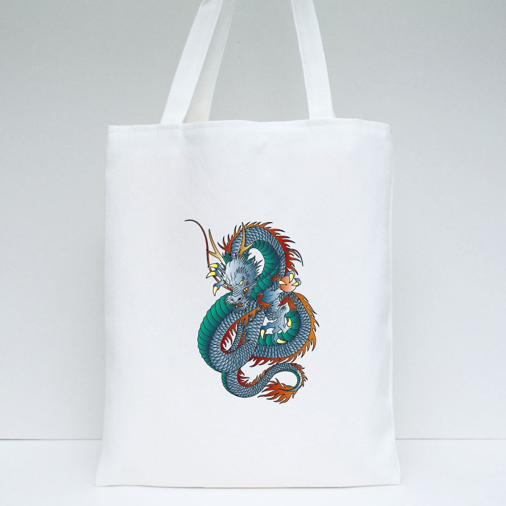 Japanese Style Dragon Tote Bags