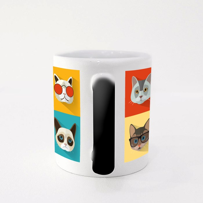 Animal Portrait Set With Flat Design Magic Mugs