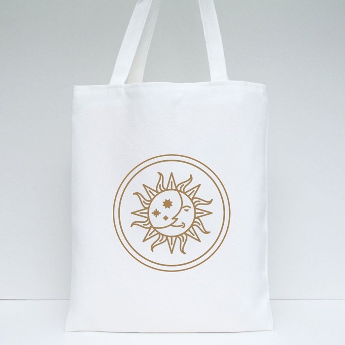 Sun and Moon Tote Bags