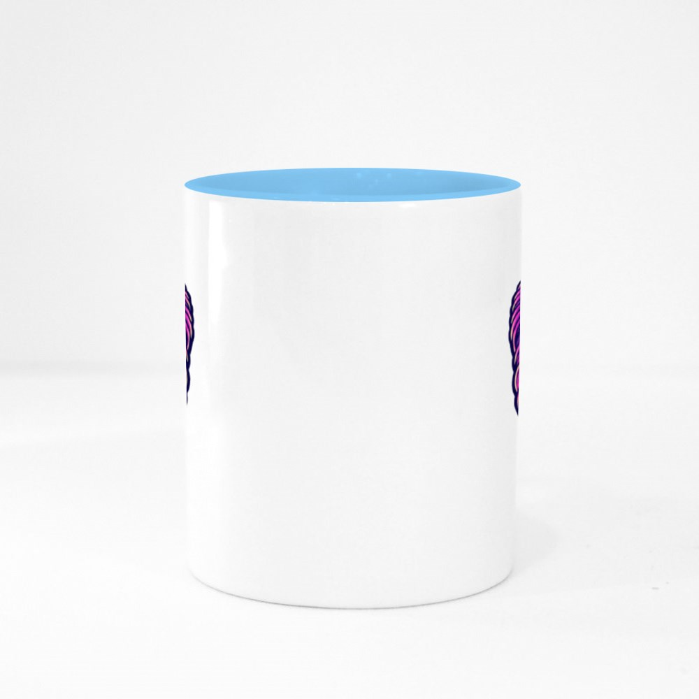 The Pop Lion Design Illustration Colour Mugs