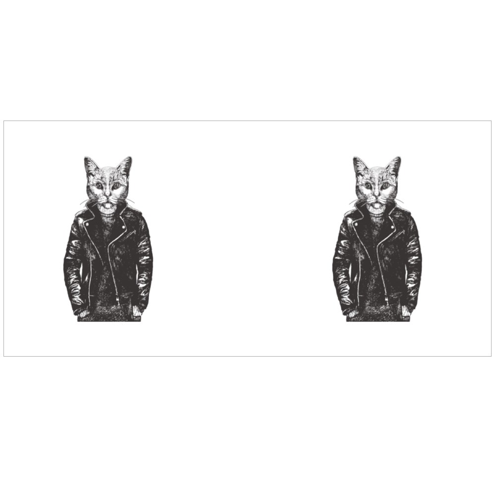62790Portrait of British Shorthair Cat in Leather Jacket Colour Mugs