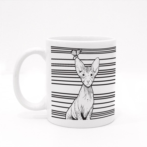 The Sphynx Look at the Butterfly Colour Mugs