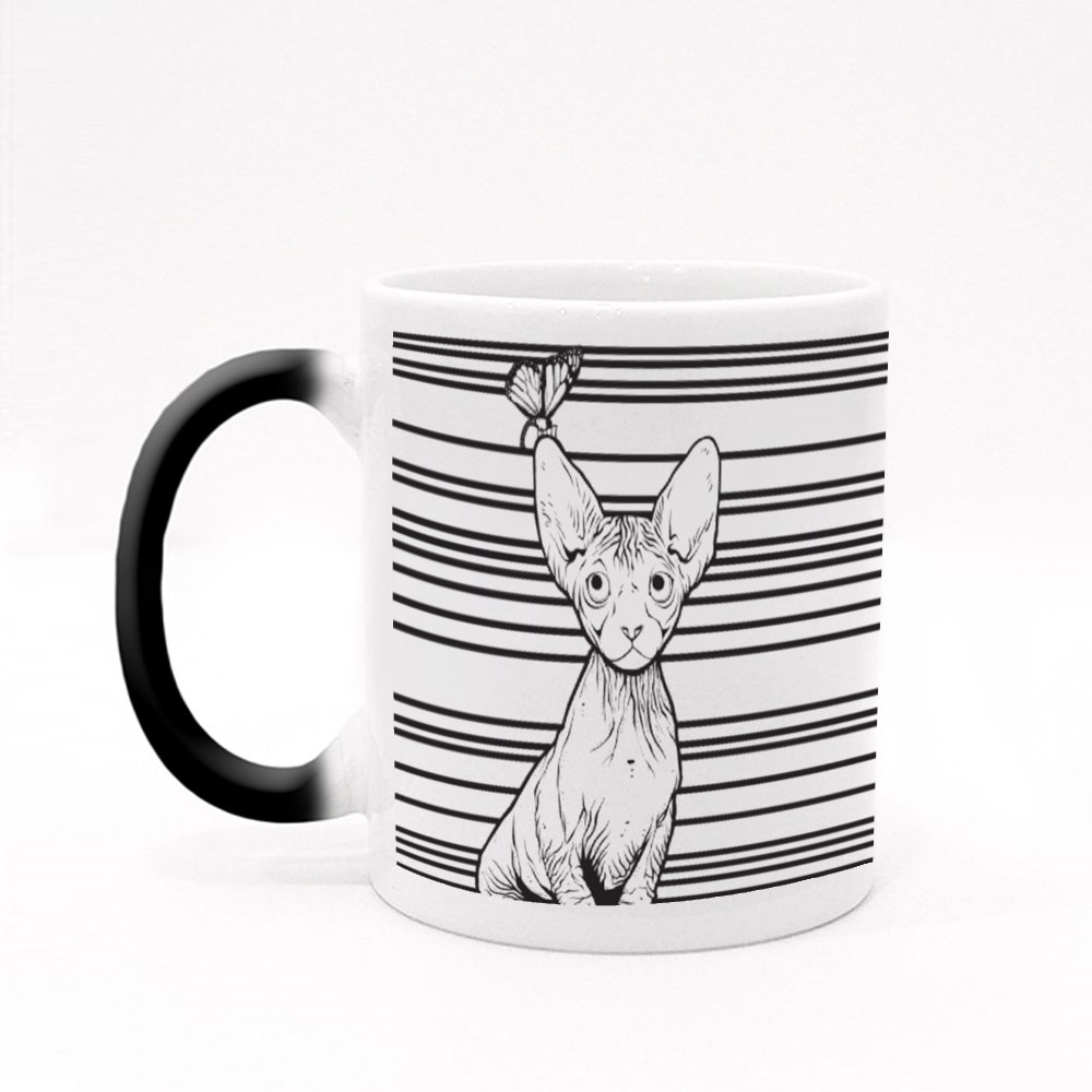 The Sphynx Look at the Butterfly Magic Mugs