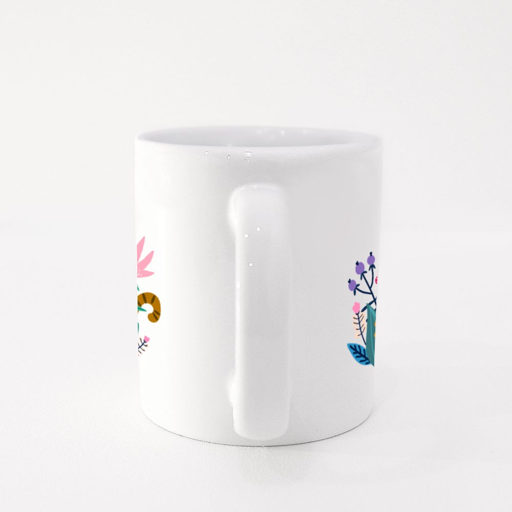 Cat Among the Flowers in the Meadow Colour Mugs