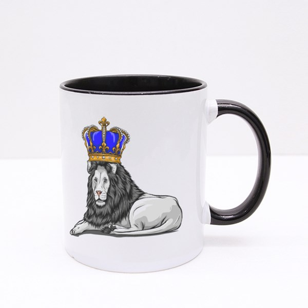King Lion With Crown Colour Mugs