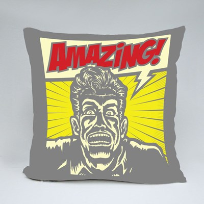 Amazing! Excited Man Throw Pillows