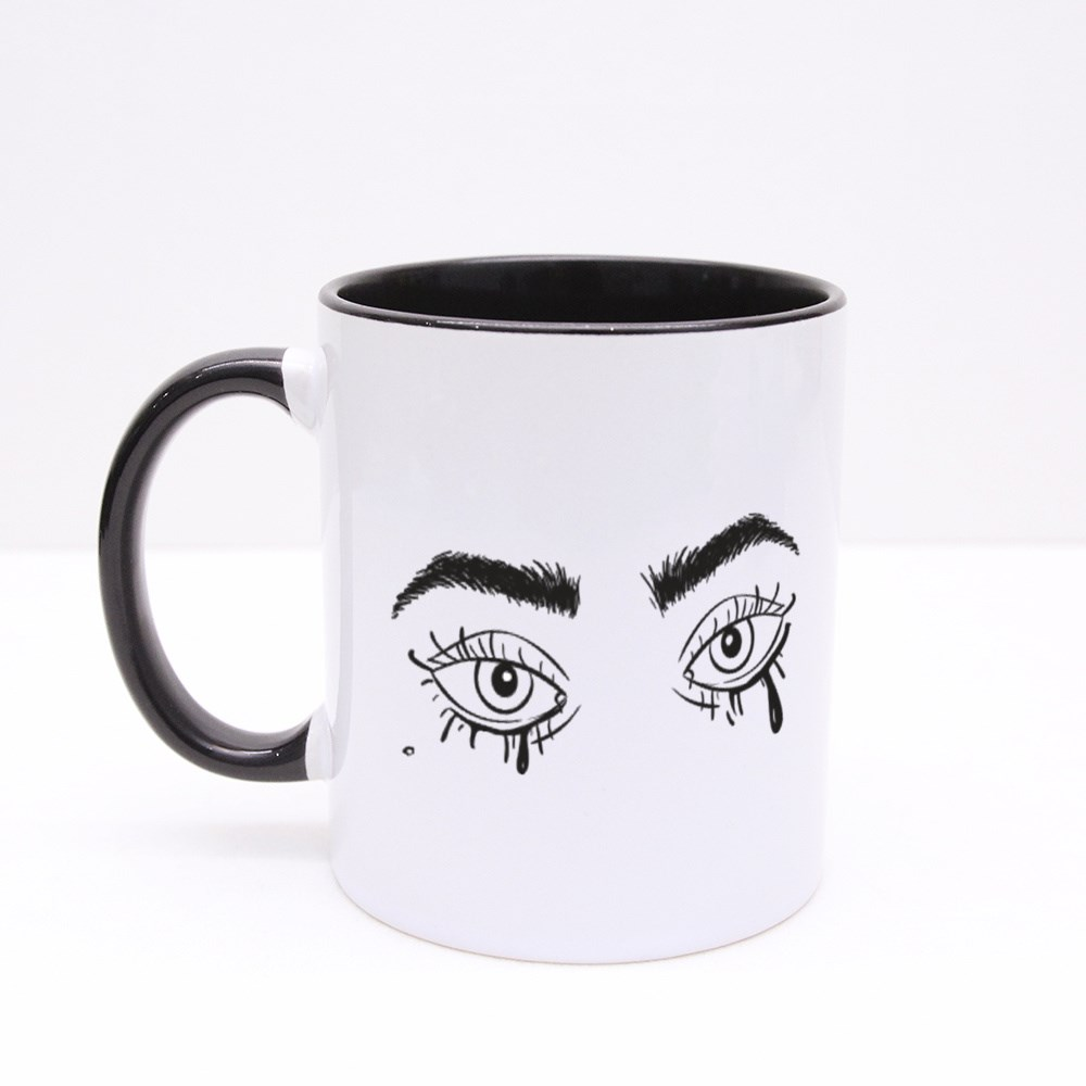 Eyes With Smudged Mascara Colour Mugs