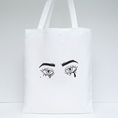 Eyes With Smudged Mascara Tote Bags