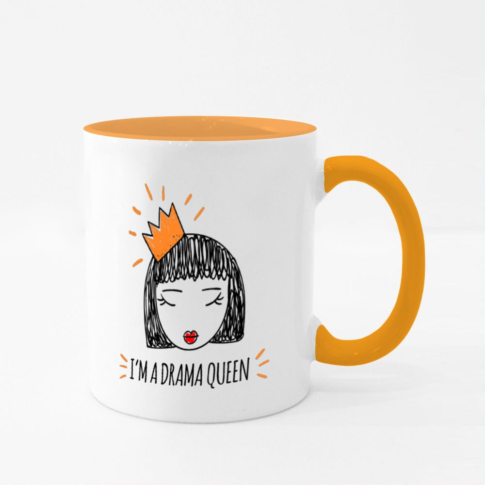 I Am a Drama Queen, Girl with a Crown Colour Mugs