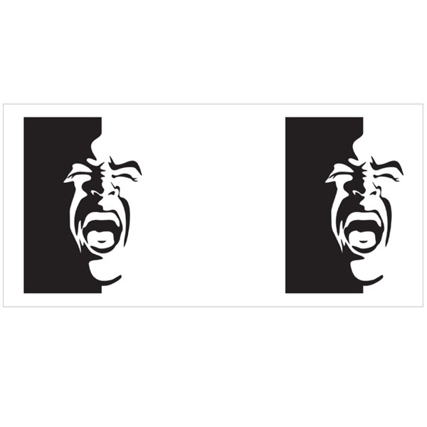 Black and White Screaming Face Colour Mugs