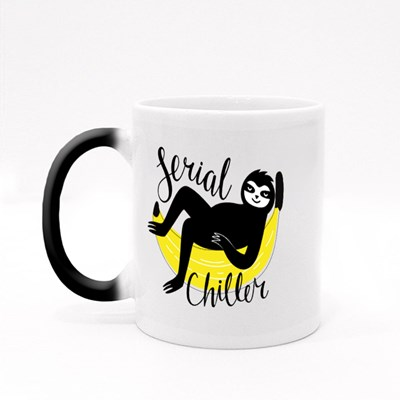 Sloth Lying on Yellow Banana Magic Mugs