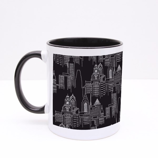 Modern New York City Scape Colour Mugs
