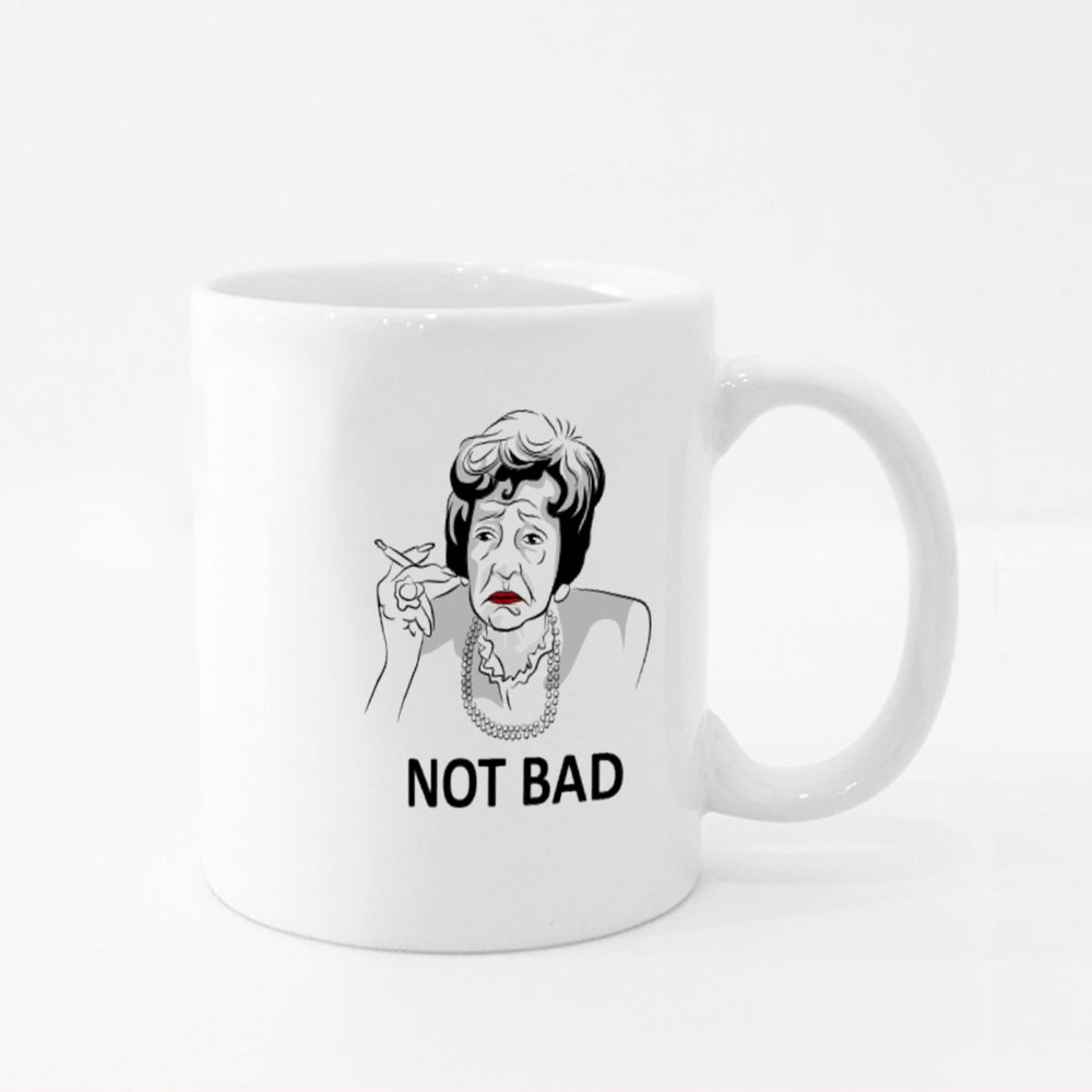 Old Woman Smoking and Speaking to You Colour Mugs