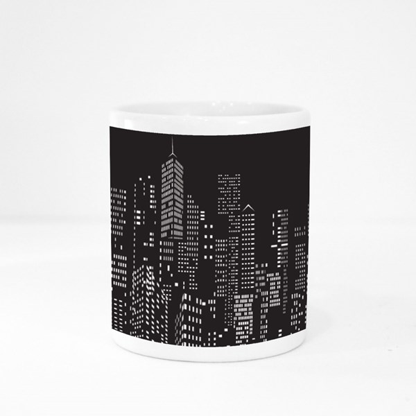 Modern City Skyline, City Silhouette Colour Mugs