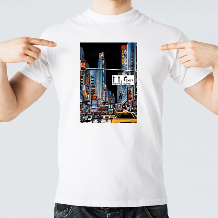 Street in New York City at Night T-Shirts