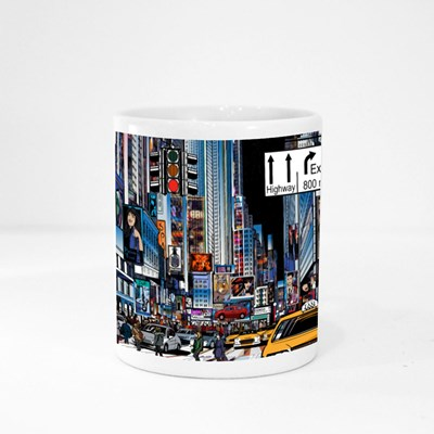 Street in New York City at Night Magic Mugs