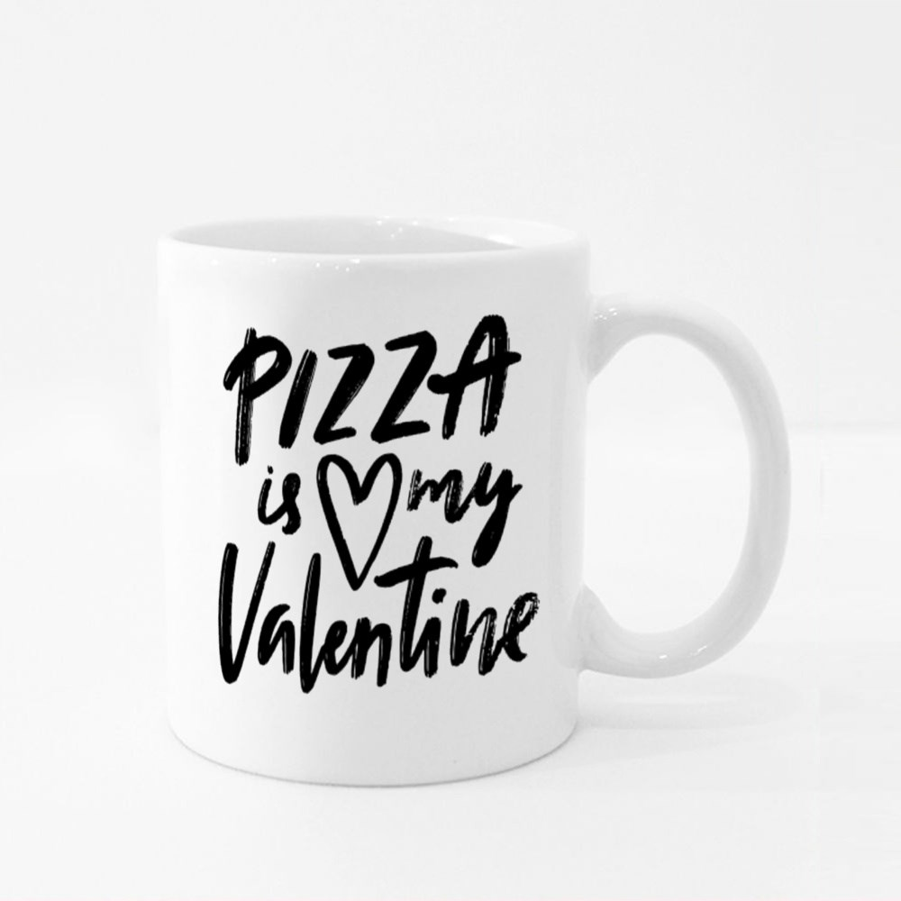 Pizza Is My Valentine Colour Mugs