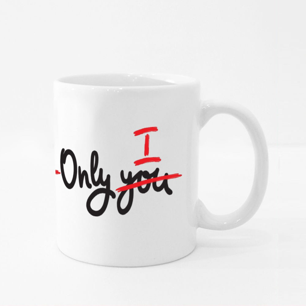 Only You Inspire Motivational Quote Colour Mugs