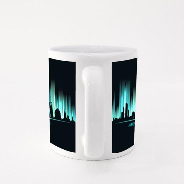 Neon ?Ity Skyline Abu Dhabi, Dubai, Riyadh, Doha, Sanaa, Al Kuwait Colour Mugs