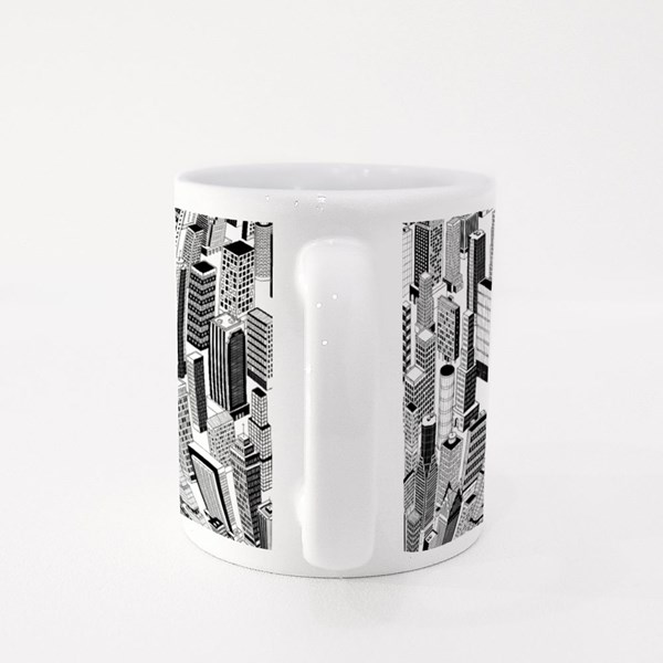 Skyscraper City of Different High-Rise Buildings Colour Mugs
