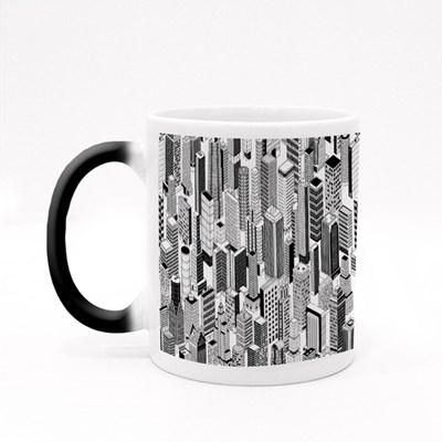 Skyscraper City of Different High-Rise Buildings Magic Mugs