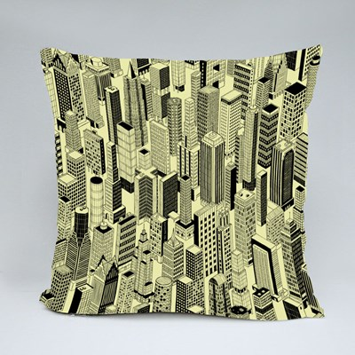 Skyscraper City of Different High-Rise Buildings Throw Pillows