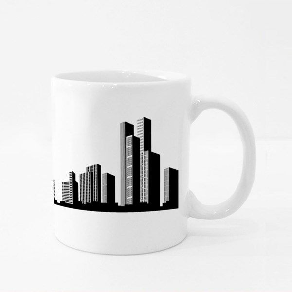 Big Skyscrapers Panorama Colour Mugs