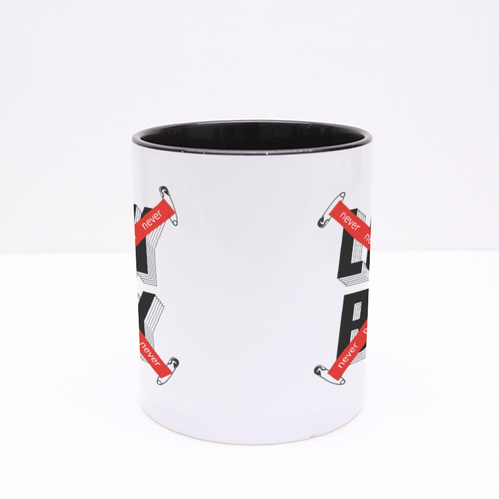 Never Look Back Crossed Tape Colour Mugs