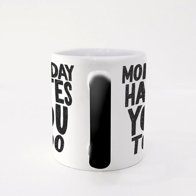 Monday Hates You Too Vector Hand Drawn Typography Magic Mugs