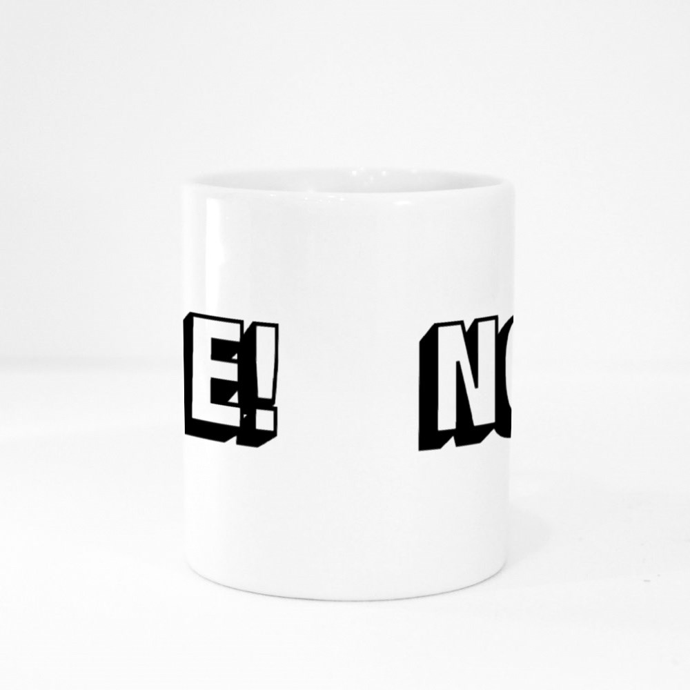 Nope With Exclamation Mark Vector Graphic Colour Mugs