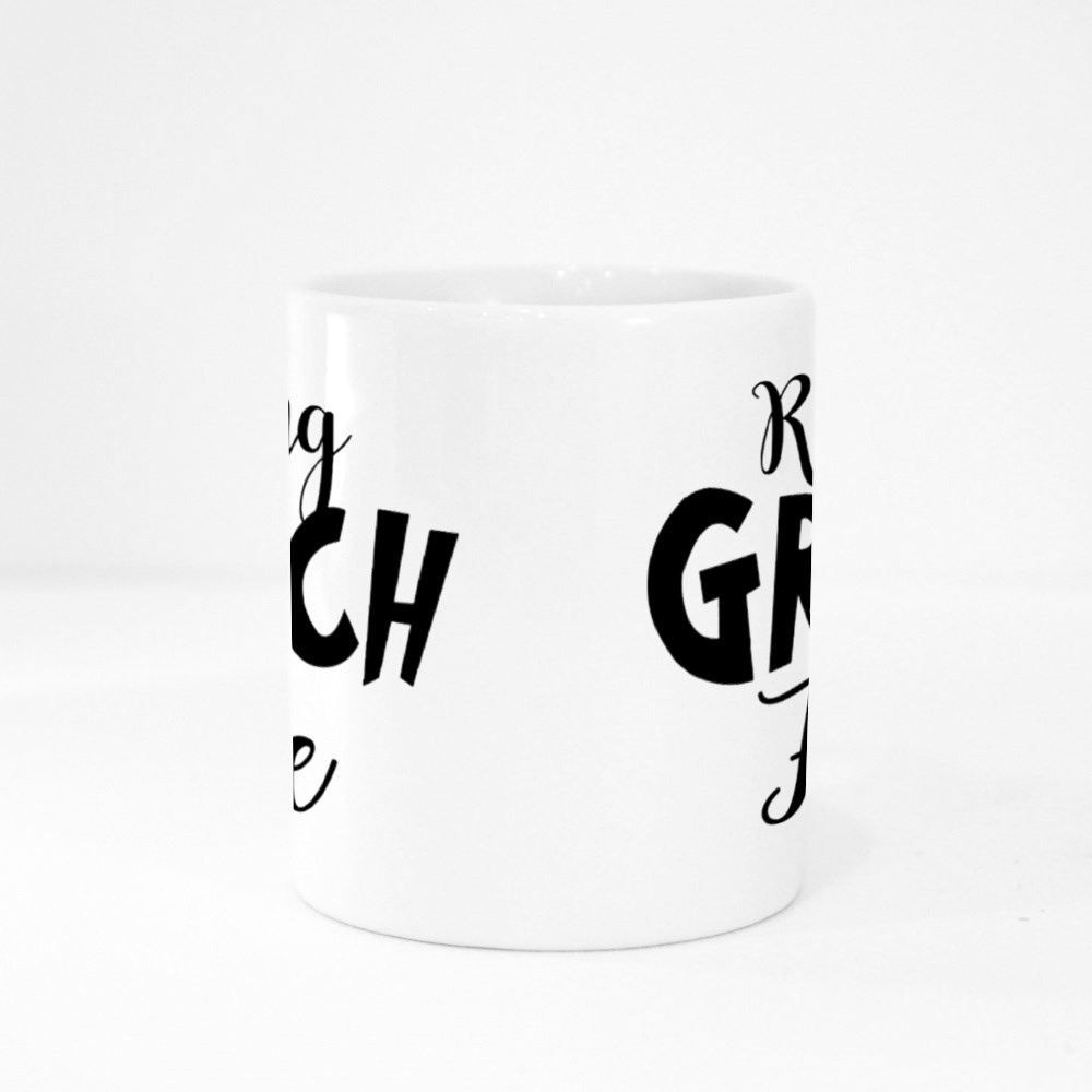Resting Grinch Face Phrase for Christmas Colour Mugs