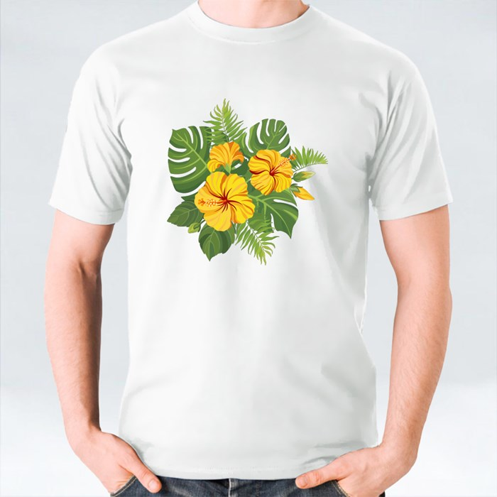 Yellow Tropical Flowers Bouquet T-Shirts
