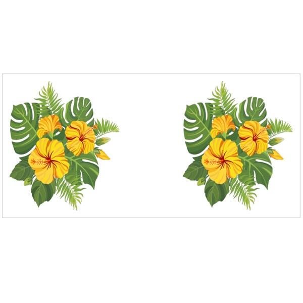 Yellow Tropical Flowers Bouquet Colour Mugs