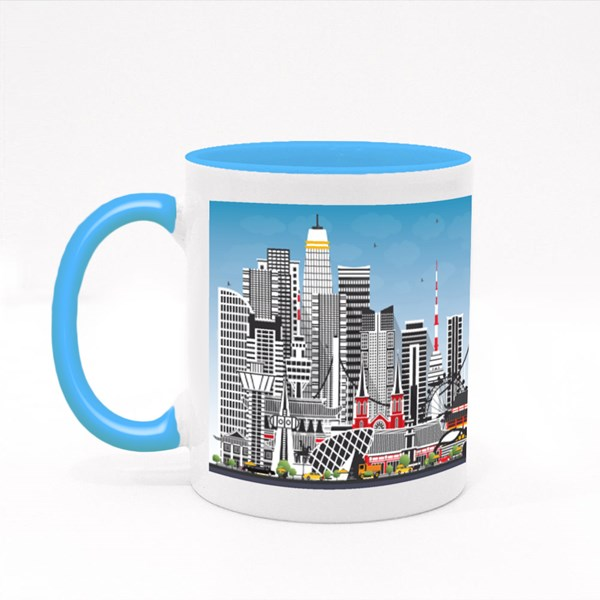 Welcome to South Korea City Skyline Colour Mugs