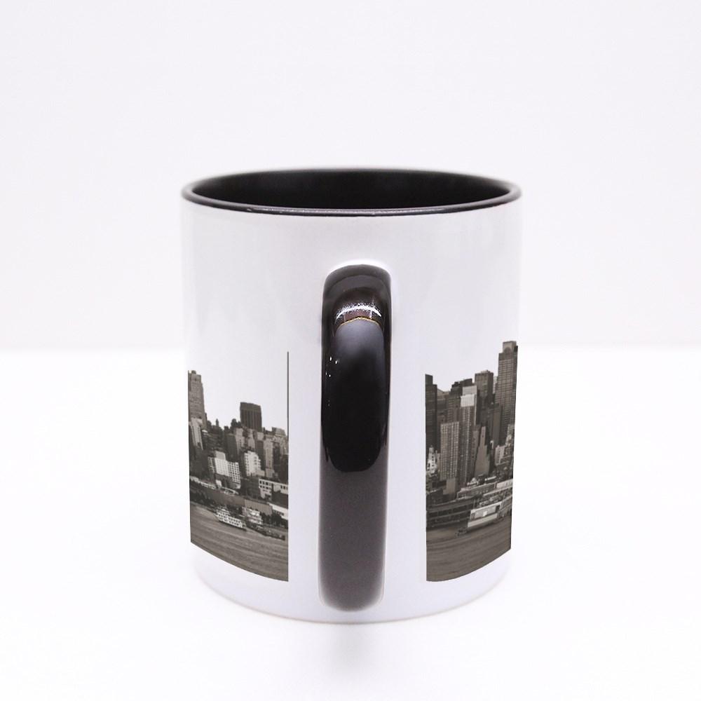 New York City Skyscrapers Urban View. Colour Mugs